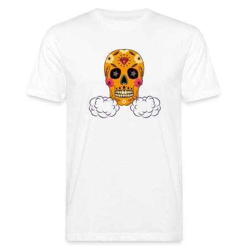 skul orange png - T-shirt bio Homme