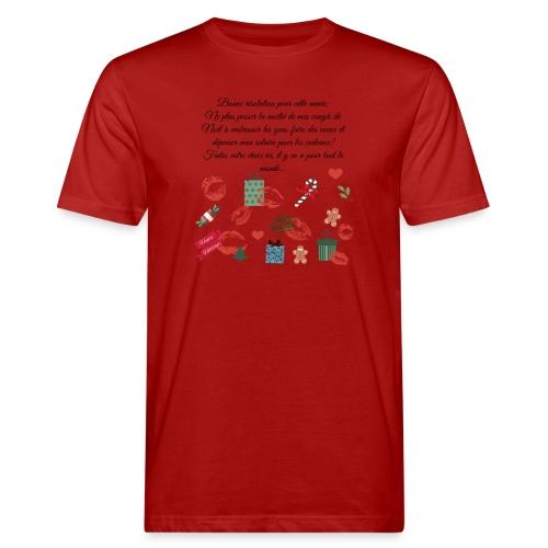 Bonne resolution Noël Nouvel An - T-shirt bio Homme
