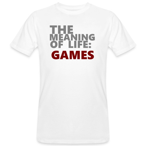 T-Shirt The Meaning of Life - Mannen Bio-T-shirt