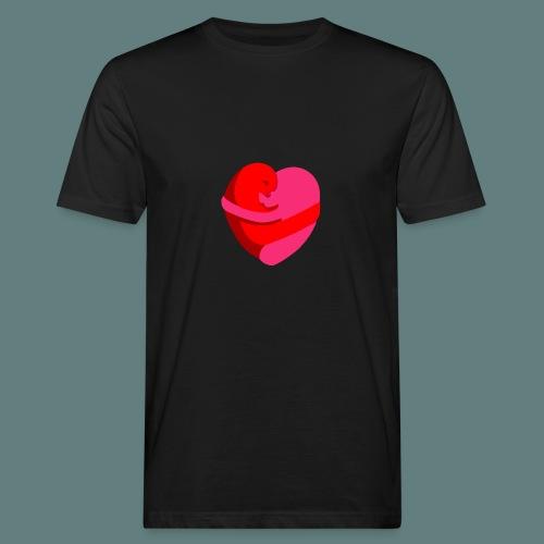 hearts hug - T-shirt ecologica da uomo