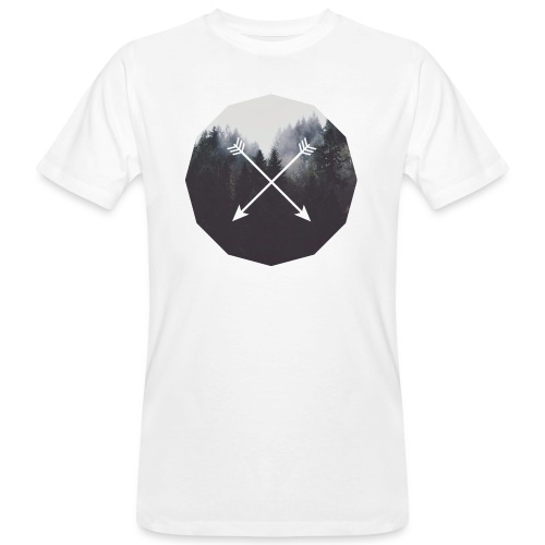 Misty Forest Blended With Crossed Arrows - T-shirt ecologica da uomo