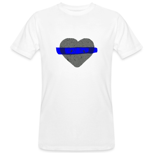 serduszko blu - Ekologiczna koszulka męska