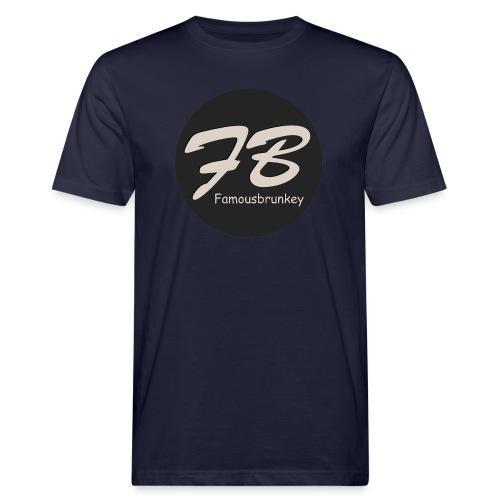 TSHIRT-FAMOUSBRUNKEY - Mannen Bio-T-shirt