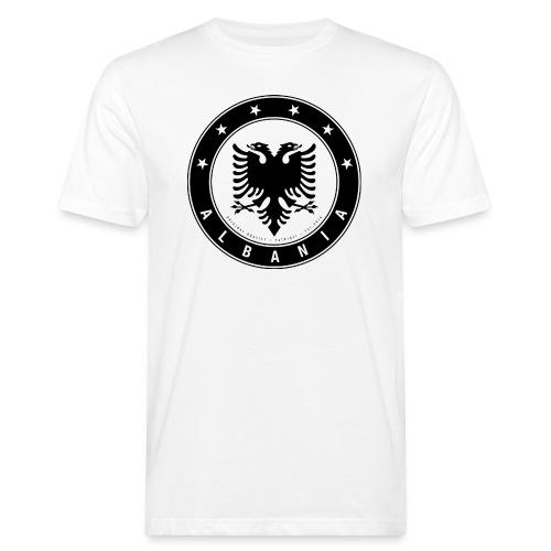 Patrioti Albania Black - Männer Bio-T-Shirt