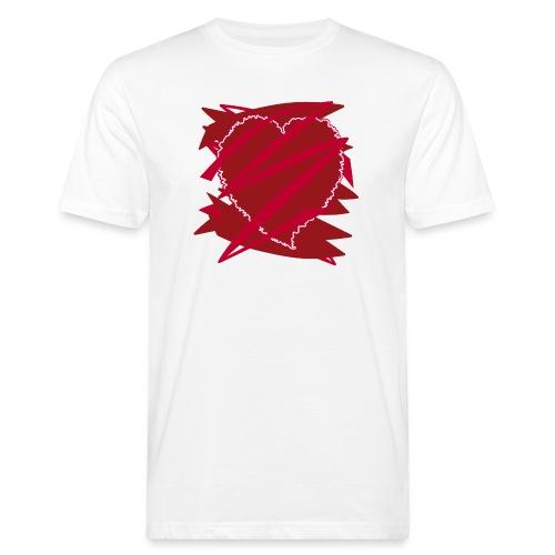 corazón enamorado, corazón roto - Camiseta ecológica hombre
