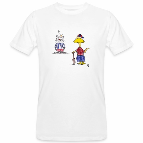 Cartoon Baseball - Männer Bio-T-Shirt