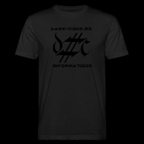 Dark-Code Black Gothic Logo - T-shirt bio Homme