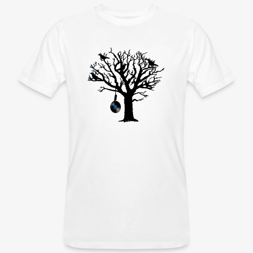 Musical Birds in Tree 2 blau Hangman Vinyl - Männer Bio-T-Shirt