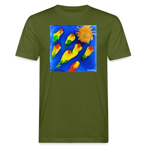 TIAN GREEN Mosaik DK035 - Paradise - Männer Bio-T-Shirt