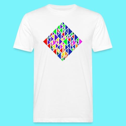 A square school of triangular coloured fish - Men's Organic T-Shirt