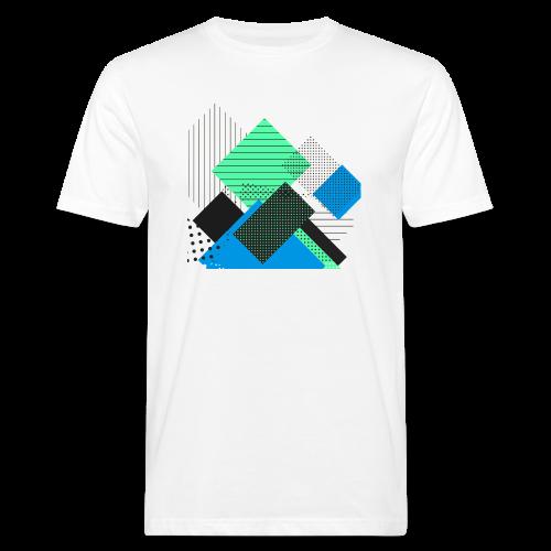 Abstract rectangles pastel - Men's Organic T-Shirt