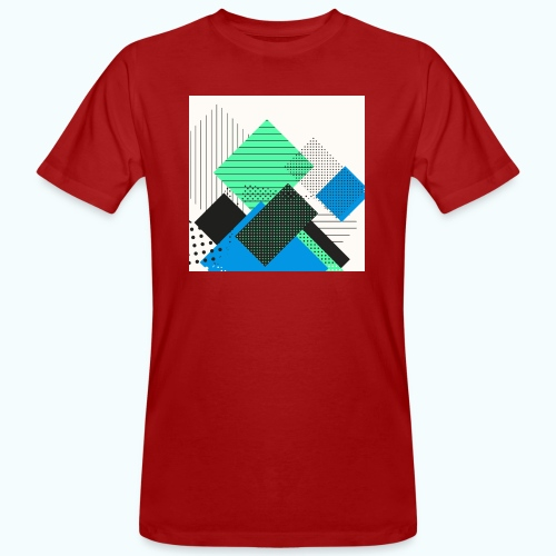 Abstract rectangles pastel - Men's Organic T-Shirt