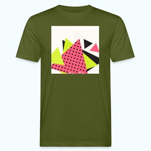 Neon geometry shapes - Men's Organic T-Shirt