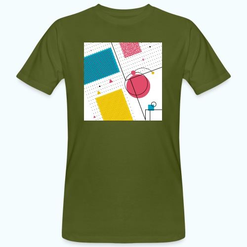 Colors shapes abstract - Men's Organic T-Shirt