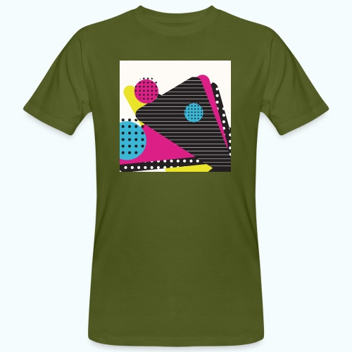 Abstract vintage shapes pink - Men's Organic T-Shirt