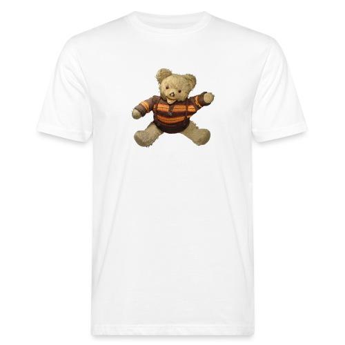 Teddybär - orange braun - Retro Vintage - Bär - Männer Bio-T-Shirt