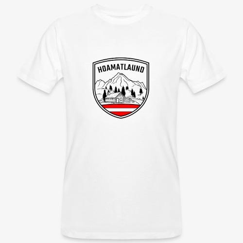 hoamatlaund logo - Männer Bio-T-Shirt