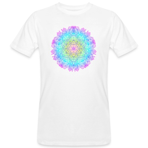 Cube de Métatron , géométrie sacré de l'archange - T-shirt bio Homme