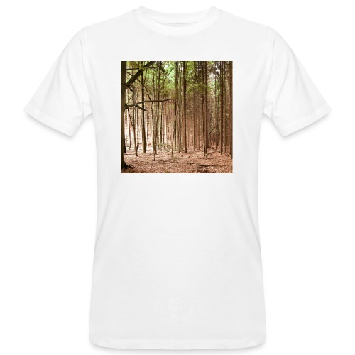 Wald Bäume Herbst Natur Waldidylle Waldleben - Männer Bio-T-Shirt