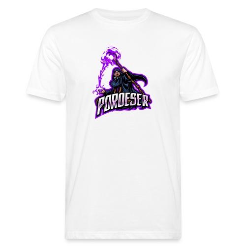 Logo Mascot+Textblock - Männer Bio-T-Shirt