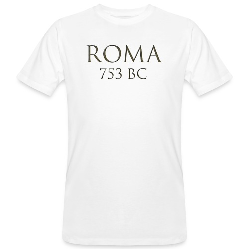 Nadruk Roma (Rzym) | Print Roma (Rome) - Ekologiczna koszulka męska