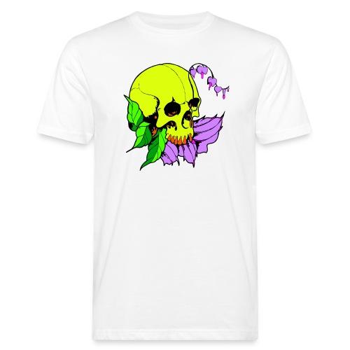 Skalle och blomma - Ekologisk T-shirt herr