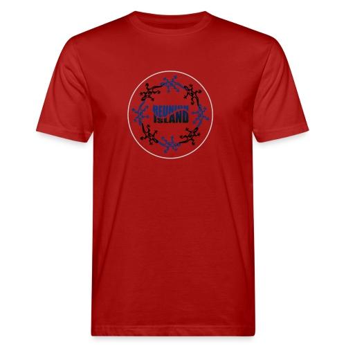 Badge Reunion Island Bleu - T-shirt bio Homme