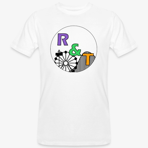 *Limited Edition* Robin & Thomas Merch Zwart - Mannen Bio-T-shirt