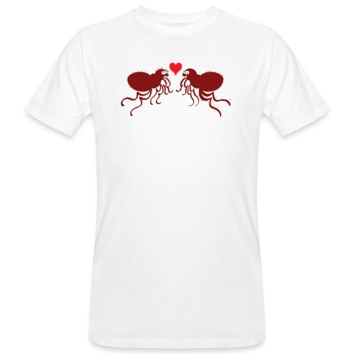 Ugly fleas madly falling in love - Men's Organic T-Shirt