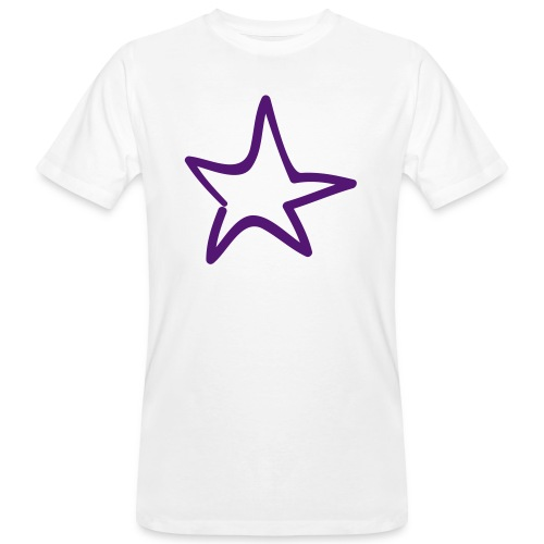 Star Outline Pixellamb - Männer Bio-T-Shirt