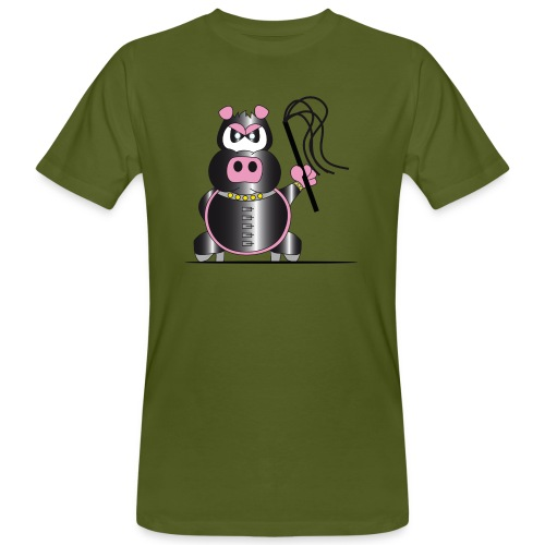 Schweinchen Sado - Männer Bio-T-Shirt