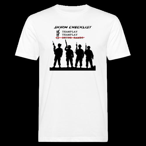 Skirm Checklist - Mannen Bio-T-shirt