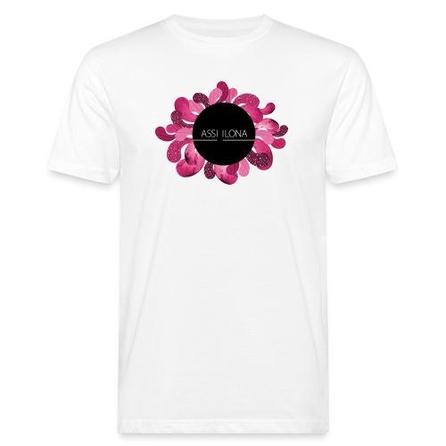 Lippis punaisella logolla - Miesten luonnonmukainen t-paita