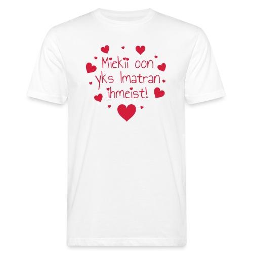 Miekii oon yks Imatran Ihmeist lasten ph paita - Miesten luonnonmukainen t-paita