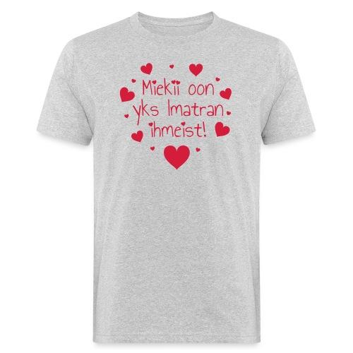 Miekii oon yks Imatran Ihmeist vauvan lh body - Miesten luonnonmukainen t-paita