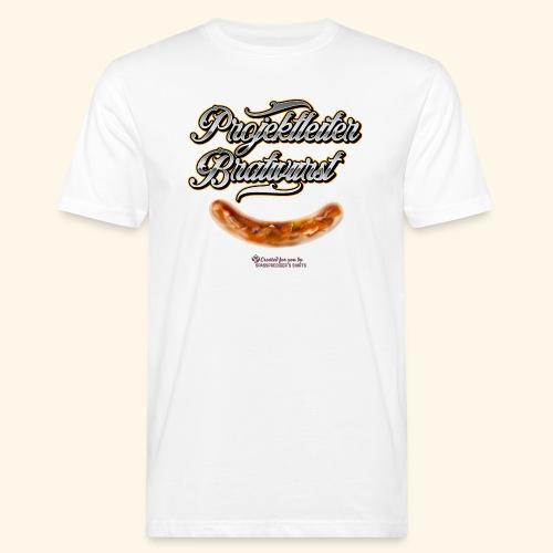 Grillen Design Projektleiter Bratwurst - Männer Bio-T-Shirt