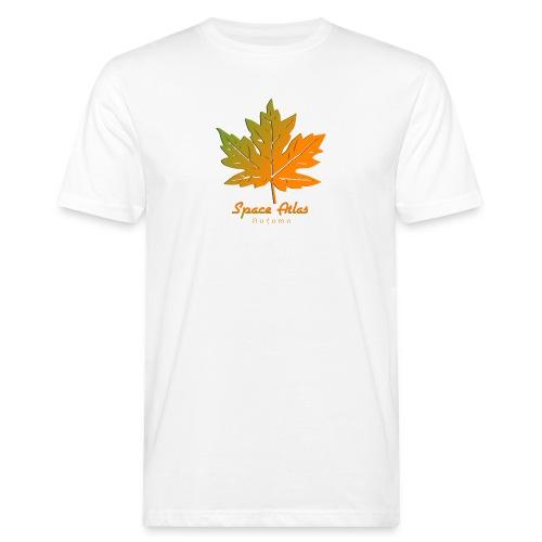 Space Atlas Long Sleeve T-shirt Autumn Leaves - Organic mænd