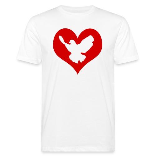 Peace & Love - Männer Bio-T-Shirt