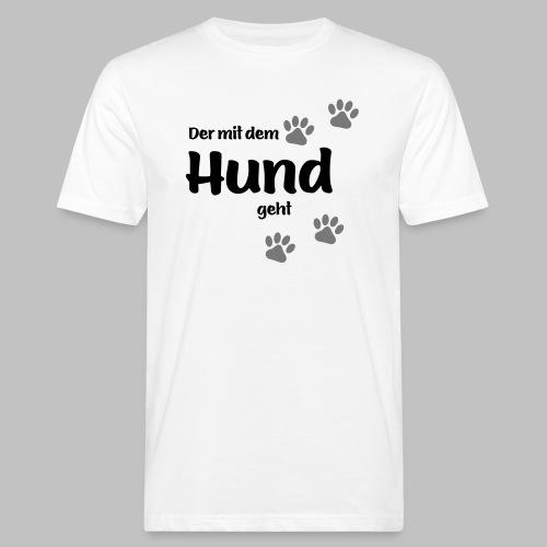 Der mit dem Hund geht - Colored Paw - Männer Bio-T-Shirt