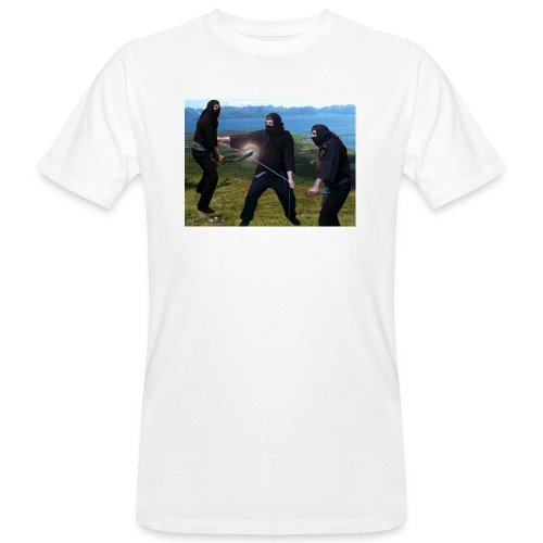 Chasvag ninja - Økologisk T-skjorte for menn