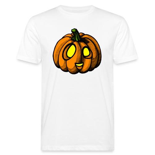 Pumpkin Halloween scribblesirii - Miesten luonnonmukainen t-paita