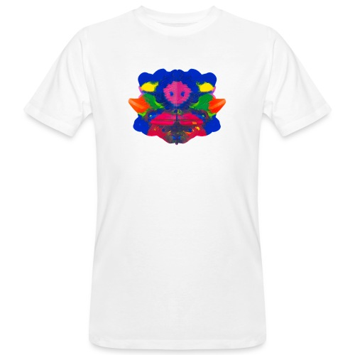 Tintenklecks mit Grusel-Alien in der Mitte - Männer Bio-T-Shirt