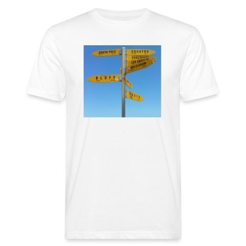 Wegweiser Cape Reinga Neuseeland Südpol Äquator - Männer Bio-T-Shirt