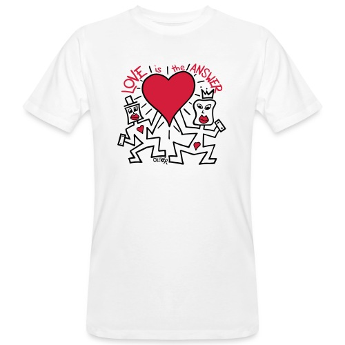 Love is the Answer by Oliver Schibli - Men's Organic T-Shirt