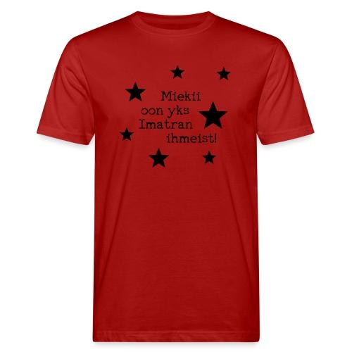 Miekii oon yks Imatran Ihmeist lasten t-paita - Miesten luonnonmukainen t-paita