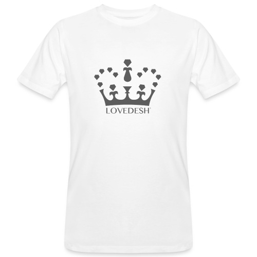 Lovedesh Crown (Dark Grey) - Men's Organic T-Shirt
