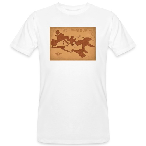Mapa Imperium Rzymskiego | Map of Roman Empire - Ekologiczna koszulka męska