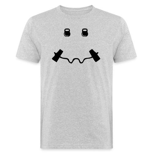 Happy dumb-bell - Mannen Bio-T-shirt