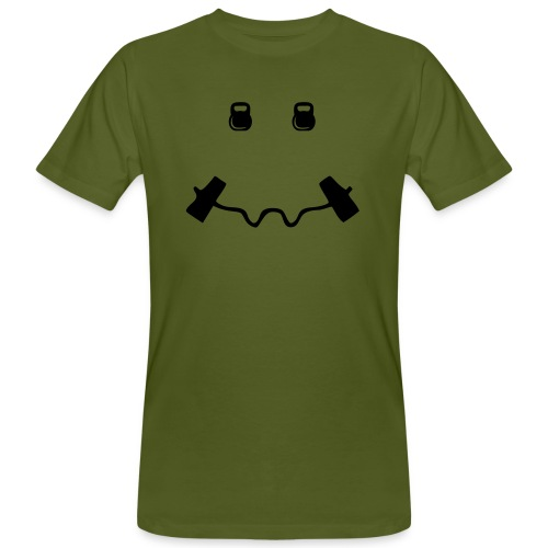 Happy dumb-bell - Mannen Bio-T-shirt