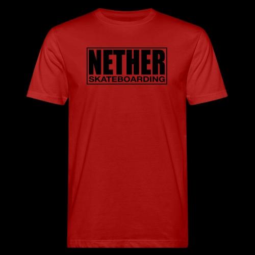 Nether Skateboarding T-shirt Black - T-shirt ecologica da uomo
